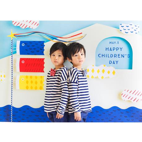 ◆数量・期間限定     おうち写真館 koinobori  SEA(青) *名入れ無し【Lサイズ:縦1030 × 横1456 mm】