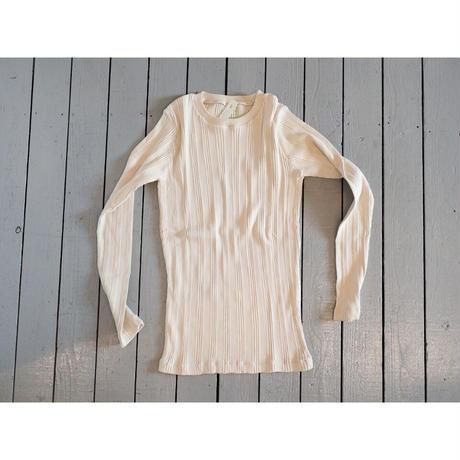 Ohh! オー!(レディース)/ コットンシルクランダム長袖Tシャツ