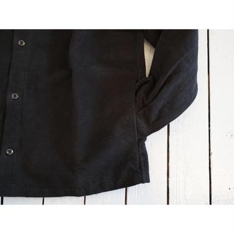 maillot マイヨ(ユニセックス) /マチュア cotton nel over shirt コットンネルオーバーシャツ【ブラック / サイズ2のみ】
