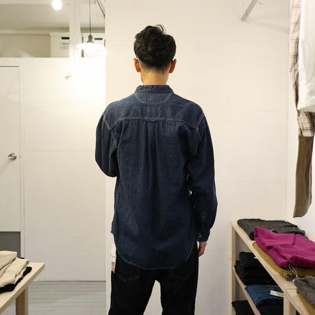 orSlow / STAND COLLAR L/S SHIRT【ワンウォッシュ】