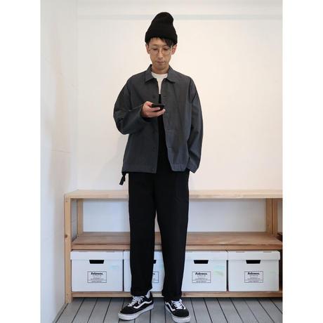 HATSKI(ユニセックス) / OVER ALL カツラギオーバーオール【ブラック】