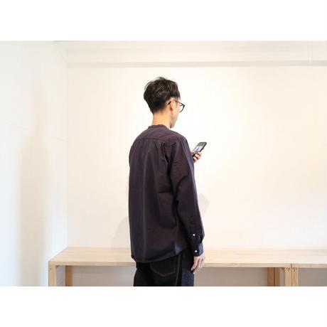 HATSKI(ユニセックス) / 8 STICH BAND COLLAR SHIRTS バンドカラーシャツ 【2色展開 / サイズ2のみ】