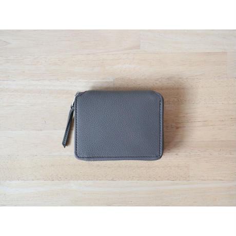 ERA. イーラ  / BUBBLE CALF ROUND PALM WALLET 折り畳み財布  【グレー】