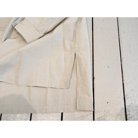 HAU ハウ(レディース) / STAND COLLAR SHIRTS NOBLE 【ライトグレー/フリーサイズ】