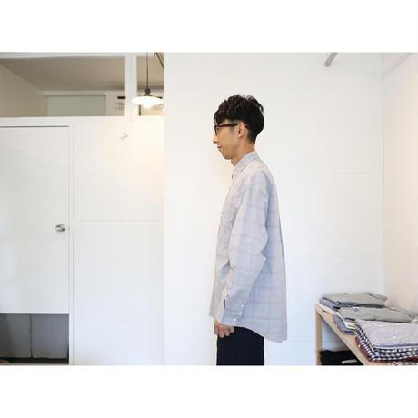 maillot マイヨ 【ユニセックス】 / BRUSH CHECK LOOSE REGULAR SHIRTS ブラッシュチェックルーズレギュラーシャツ【ベージュ】