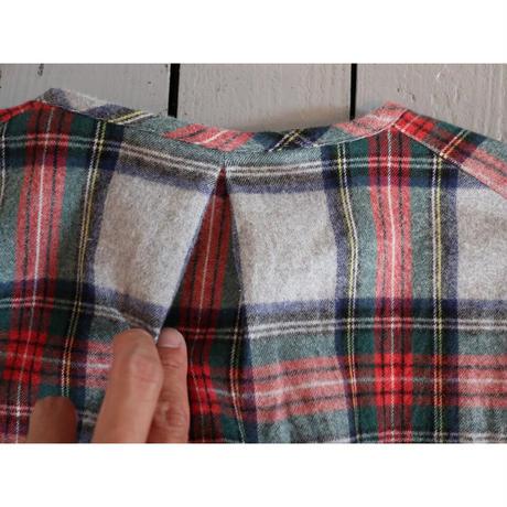 maillot マイヨ 【ユニセックス】 / NEL CHECK HENLY SHIRTS ネルチェックヘンリーシャツ【グレーチェック / 2のみ】