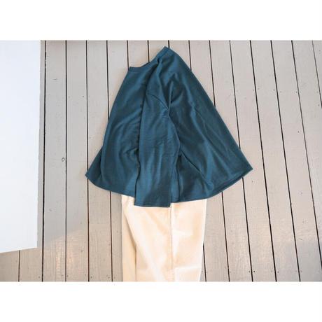 maillot マイヨ 【レディース】 / マチュア ウールフレアーT【ブルー / 生成り】