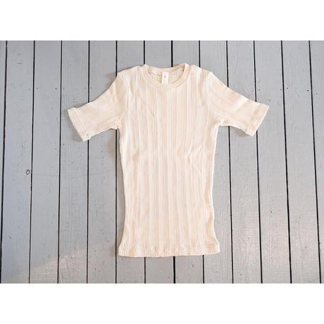 Ohh! オー!(レディース)/ コットンシルクランダム半袖Tシャツ【3色】