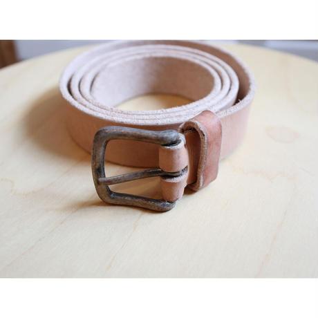 BROE & CO (ユニセックス) / 30mm OLD NICKEL HAND MADE BELT 30ミリ幅 レザーベルト【2サイズ展開】