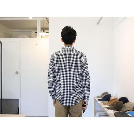 maillot (ユニセックス)  / SUNSET BIG GINGHAM B.D SHIRTS サンセット ビッグギンガムBDシャツ (ブラック×ホワイト)