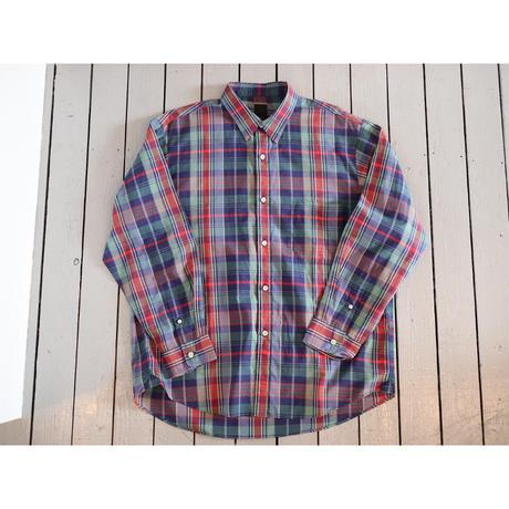 maillot マイヨ 【ユニセックス】 / C/S check loose regular shirt コットンシルクルーズレギュラーシャツ【グリーンチェック 】