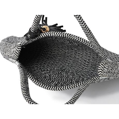 タッセル付き ロープハーフムーンバッグ(G07-Z3119020)