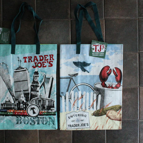PRINTED TOTE BOSTON / TRADER JOE'S