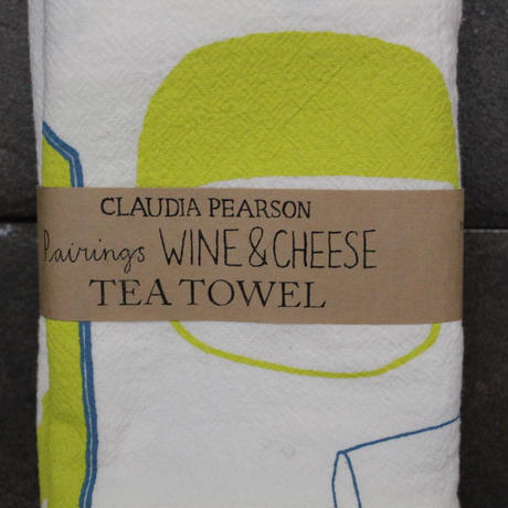 TEA TOWEL WINE&CHEESE / Claudia Pearson