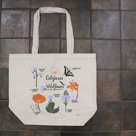 MARKET TOTE WILDFLOWERS  / Claudia Pearson