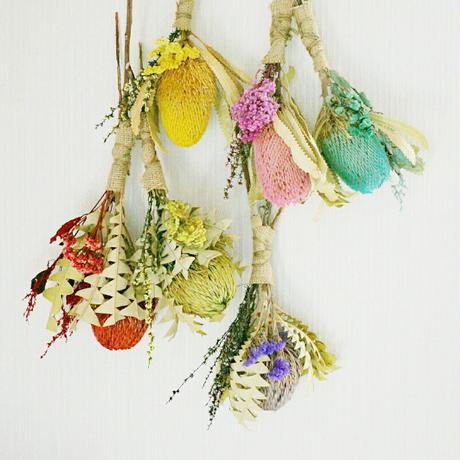『選べる2個セット!太陽の花 バンクシア ミニ スワッグ mix01001』珍しい 壁飾り インテリア