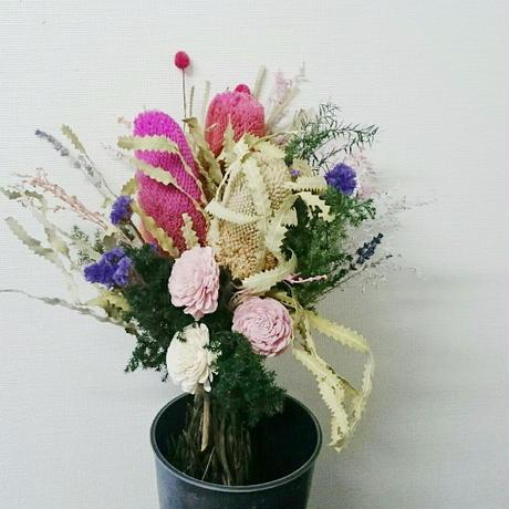 【華やか!】ガーリーな花束、フェミニンなフラワーアレンジメント 大人かわいいインテリア、プレゼント!セミオーダー、DIY可能!