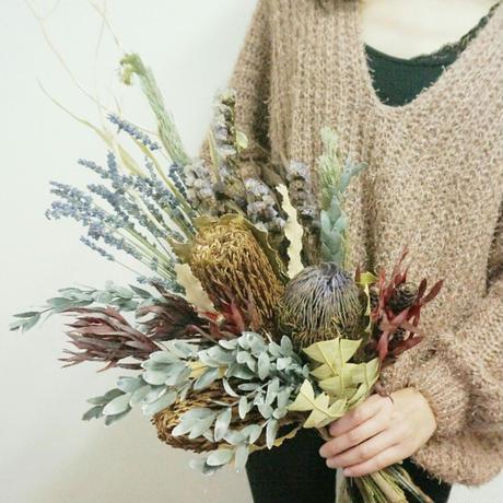 【人気】ラベンダー入りワイルドフラワーの花束 prg1  ディスプレイやお見舞いなどに
