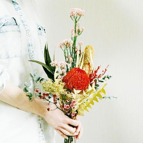 『赤いバンクシアとピンクの花束 red&pink 001 』母の日プレゼントやギフトにも