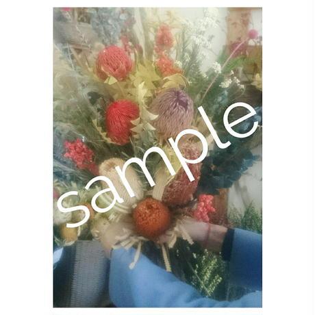 セミオーダー ドライフラワー(プリザーブドフラワー)の花束 20,000円【税込・送料込】出来上がりイメージを選んだあとはお任せ!