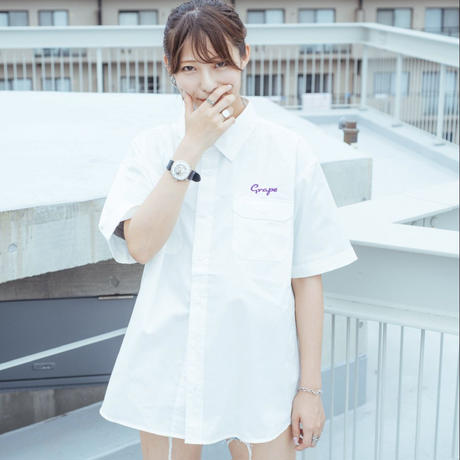 『Grape Park Court』オリジナルワークシャツ ホワイト