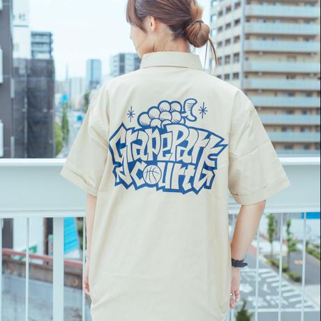 『Grape Park Court』オリジナルワークシャツ モカベージュ