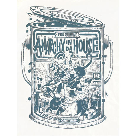 ANARCHY IN DA HOUSE / LONG SLEEVE TEE / WHITE