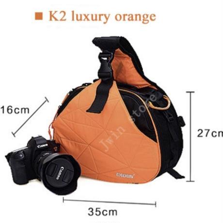 カメラバッグ ショルダーバッグ ブラック オレンジ 防水