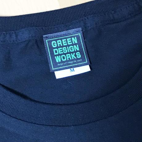 GREEN DESIGN WORKS ロゴT (生地色:黒/ロゴ色:緑)