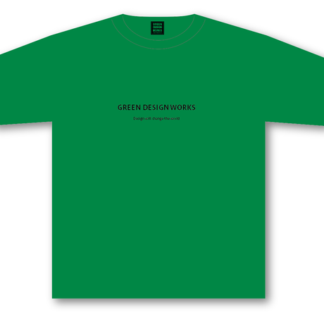GREEN DESIGN WORKS ロゴT (生地色:緑/ロゴ色:黒)