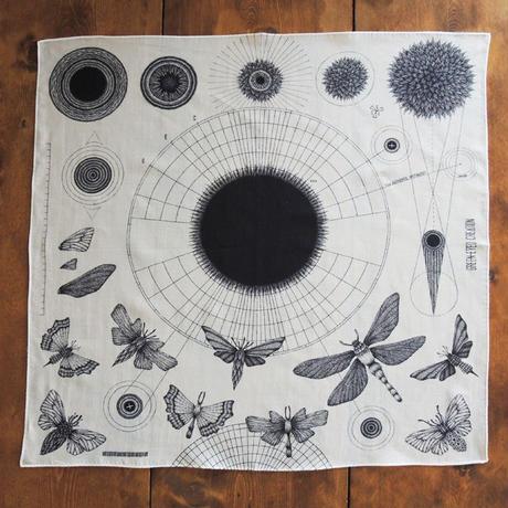 アタナシウス・キルヒャーの夢 大判ハンカチ 宇宙と昆虫