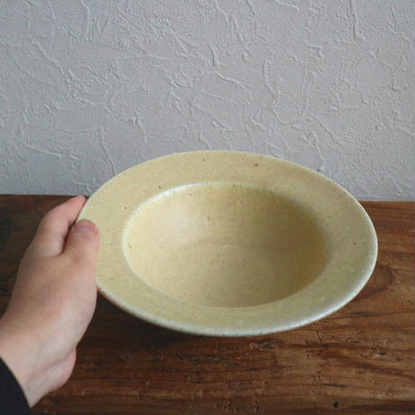 リム鉢M(黄粉引) /  小林徹也