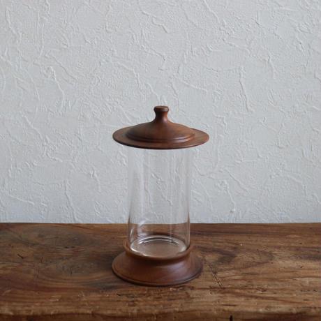 木製ハ―バリウム小(標本瓶)ウォールナット/ 柳弘之