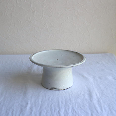 粉引4.5寸高台皿  /  高木剛