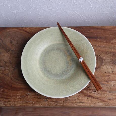 リム皿S(彩白陶) /  小林徹也