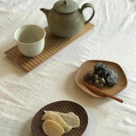 五角豆皿オニグルミ /  加賀雅之
