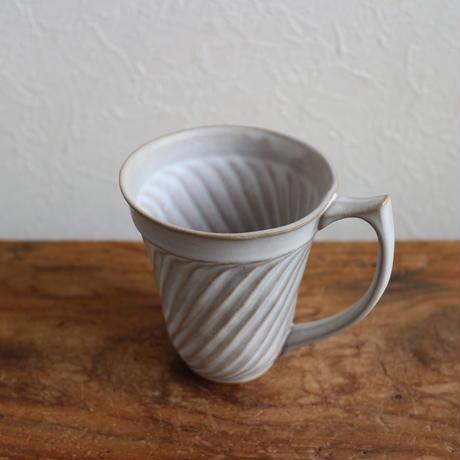 ウェーブマグカップ ライドグレー  /  暮縞