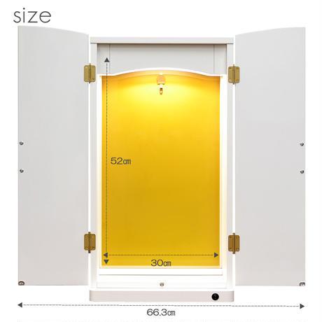 アクリル板付きミニ仏壇/特装ご本尊様対応/043/ホワイト/LED照明付き/創価学会用上置き仏壇/コンパクト仏壇/SGI・SOKA