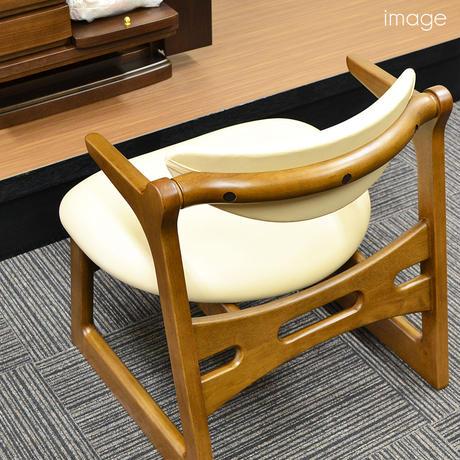 低座イス/キャスパー・チェアー/040/ベージュ色/ポリ塩化ビニル/ラバーウッド天然無垢材/ウレタン塗装/低い椅子/お仏壇用