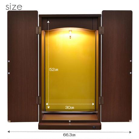 アクリル板付きミニ仏壇/特装ご本尊様対応/044/ブラウン/LED照明付き/創価学会用上置き仏壇/コンパクト仏壇/SGI・SOKA