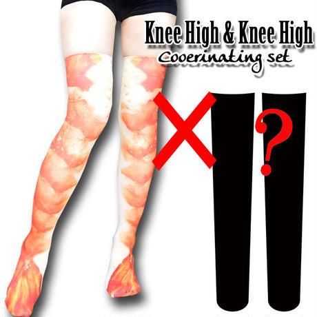 Selectable knee high socks! Set sales<ゆでえび/Boiled shrimp>
