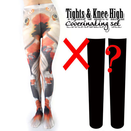 Set sales★<錦鯉/Colored carp>Selectable knee high socks & Tights!