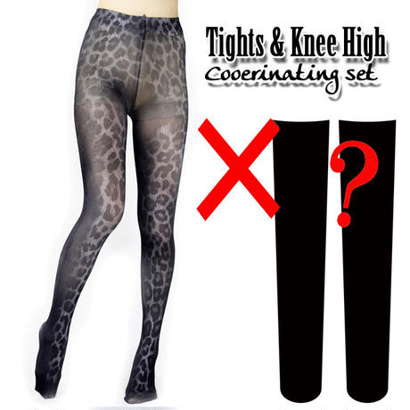 Set sales★<黒豹/Black Panther>Selectable knee high socks & Tights!