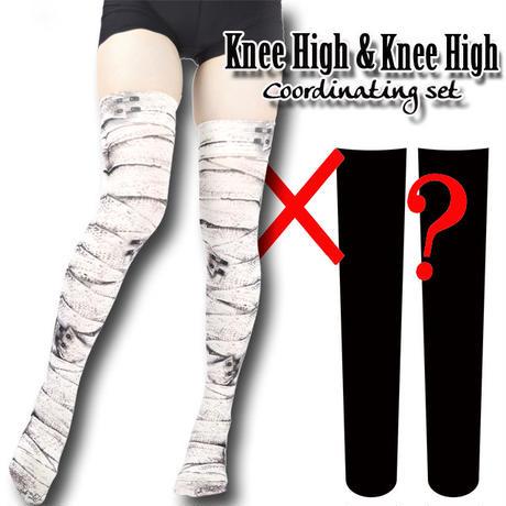 Selectable knee high socks! Set sales<包帯/andage>