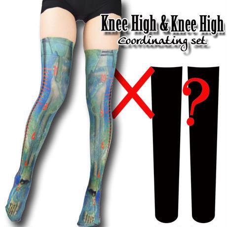 Selectable knee high socks! Set sales<メルティ―スライム/Melty slime>