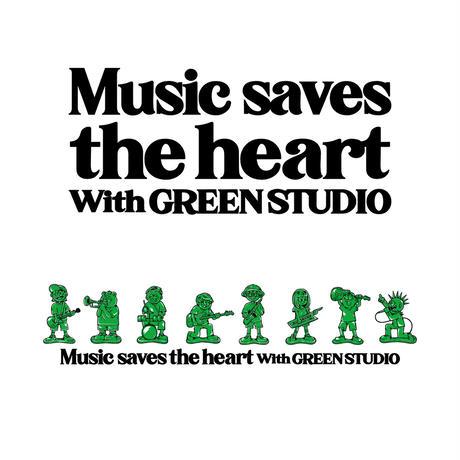 """Music saves the heart""ロングスリーブTシャツ"