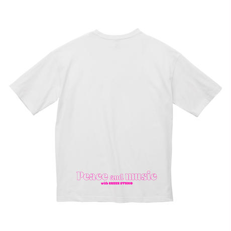 """""""Peace and music""""Tシャツ"""