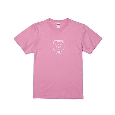 【受注生産品 4/4(日)24:00まで😌】キヨシ一門アルパカロゴTシャツ(ピンク×ホワイト)