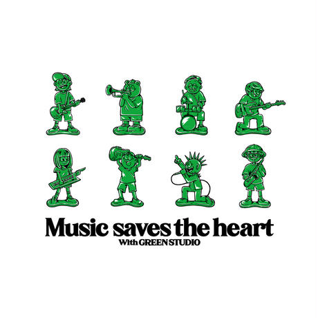 """""""Music saves the heart""""Tシャツ"""