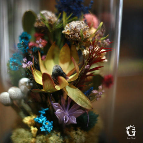 Glass Dome Flower M (gd-08)